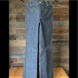 NWOT 7 FOR ALL MANKIND PINSTRIPED TROUSER JEAN 26